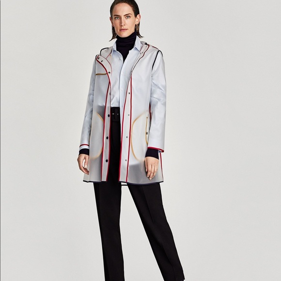 search for latest top-rated quality nice shoes Zara Clear Plastic Raincoat. Good Condition